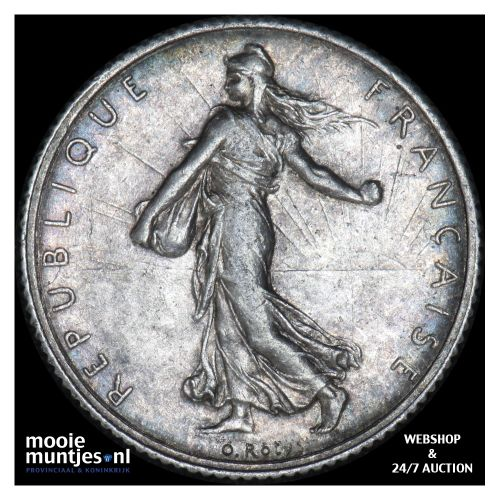 franc - France 1918 (KM 844.1) (kant B)
