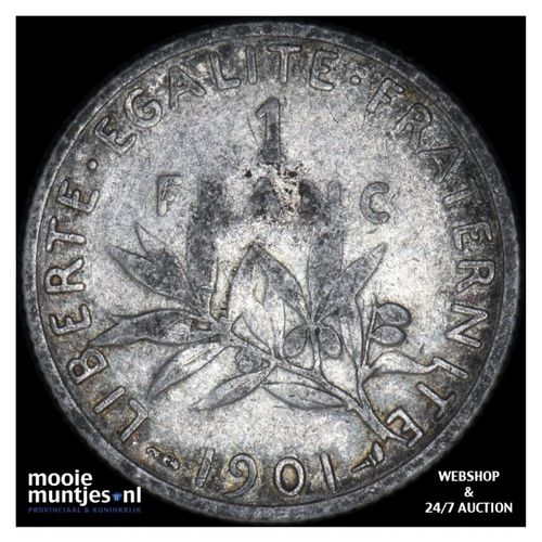 franc - France 1901 (KM 844.1) (kant A)
