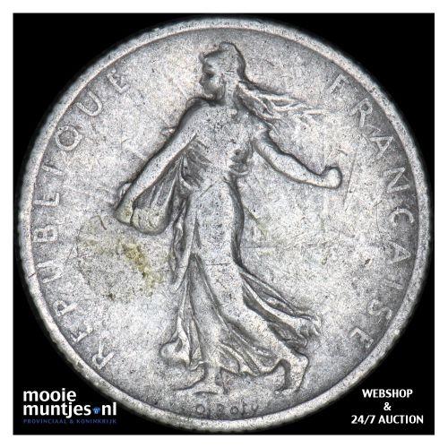 franc - France 1902 (KM 844.1) (kant B)