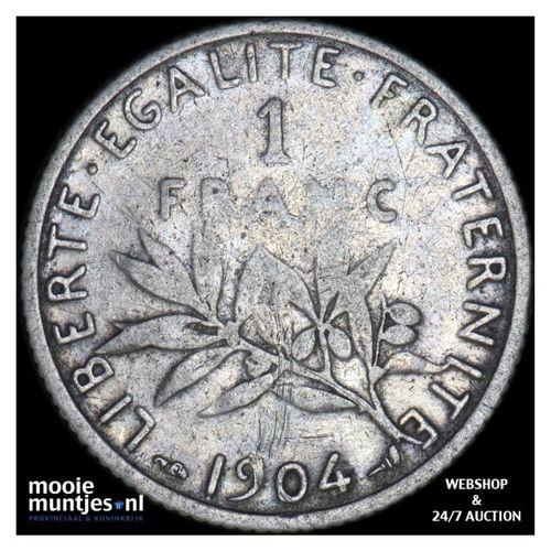 franc - France 1904 (KM 844.1) (kant A)