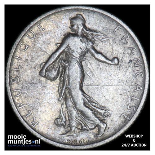 franc - France 1908 (KM 844.1) (kant B)