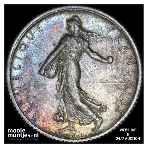 franc - France 1915 (KM 844.1) (kant B)
