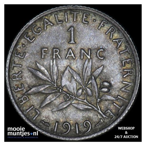 franc - France 1919 (KM 844.1) (kant A)