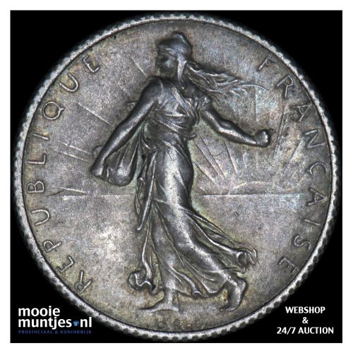 franc - France 1919 (KM 844.1) (kant B)