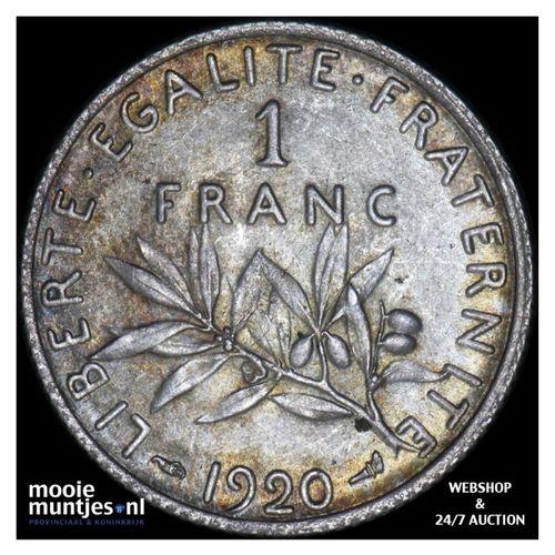 franc - France 1920 (KM 844.1) (kant A)