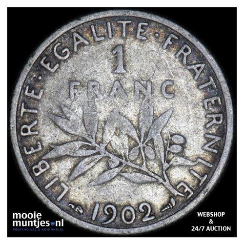 franc - France 1902 (KM 844.1) (kant A)