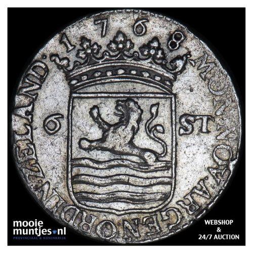 Zeeland - Scheepjesschelling - 1768 over 67 (kant A)