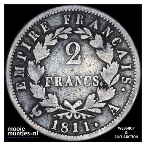 2 francs - France 1811 A (Paris) (KM 693.1) (kant A)
