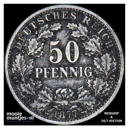 50 pfennig - Germany 1877 D (KM 8) (kant A)
