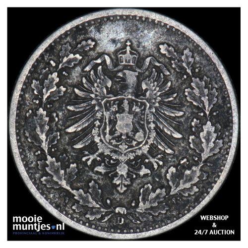50 pfennig - Germany 1877 D (KM 8) (kant B)