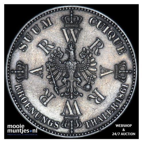thaler - German States/Prussia 1861 (KM 488) (kant A)