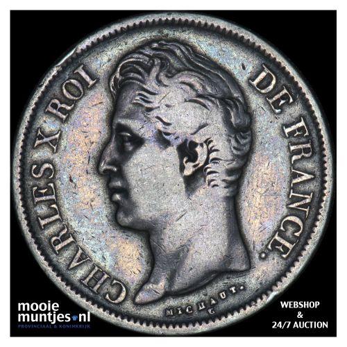 5 francs - France 1829 B (Rouen) (KM 728.2) (kant B)