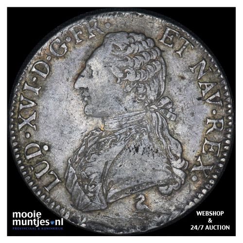 ecu - France 1784 A (Paris) (KM 564.1) (kant B)
