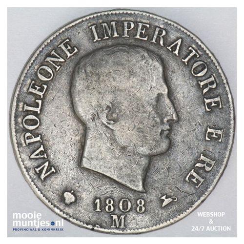 5 lire - Italian States/Kingdom of Napoleon 1808 (KM 10.1) (kant A)