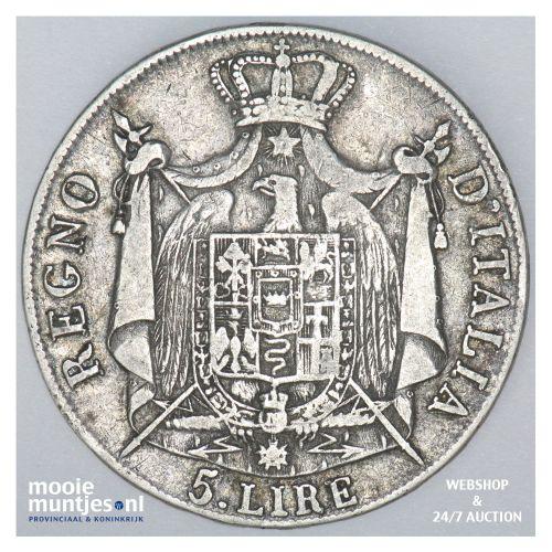 5 lire - Italian States/Kingdom of Napoleon 1808 (KM 10.1) (kant B)