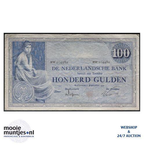 100 gulden - 1921 (Mev. 116-3b / AV 80) (kant A)