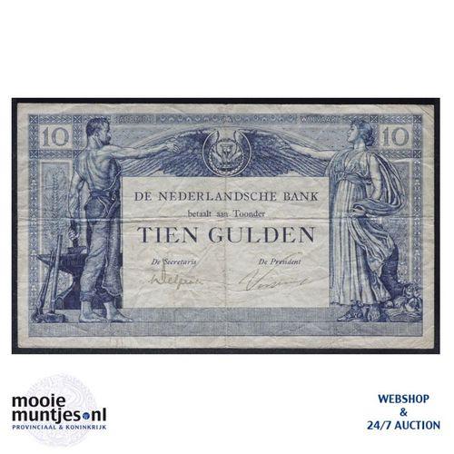 10 gulden  - 1921 (Mev. 38-1b / AV 27) (kant A)