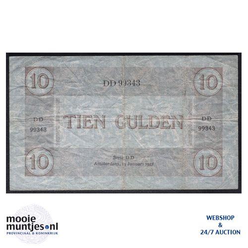10 gulden  - 1921 (Mev. 38-1b / AV 27) (kant B)