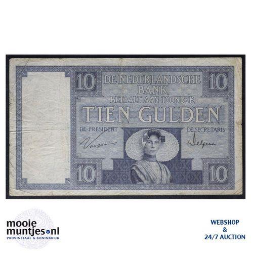 10 gulden  - 1924 (Mev. 39-3b / AV 28) (kant A)