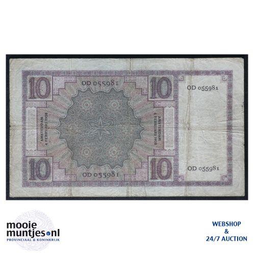 10 gulden  - 1924 (Mev. 39-3b / AV 28) (kant B)
