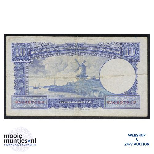 10 gulden  - 1949 (Mev. 47-1 / AV 35A) (kant B)