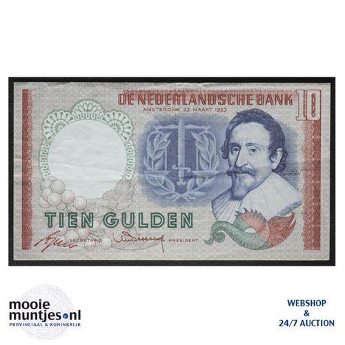 10 gulden  - 1953 (Mev. 48-1a / AV 36) (kant A)