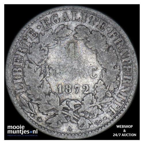 franc - France 1872 A (Paris) (KM 822.1) (kant A)