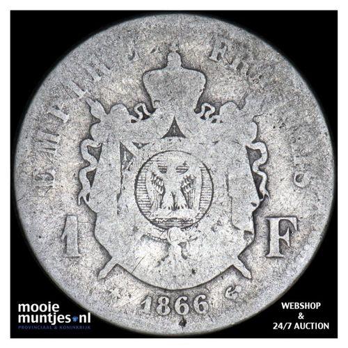 franc - France 1866 A (Paris) (KM 806.1) (kant A)