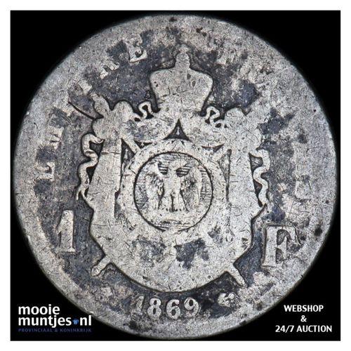 franc - France 1869 A (Paris) (KM 806.1) (kant A)