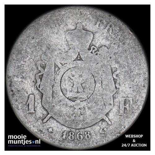franc - France 1868 A (Paris) (KM 806.1) (kant A)