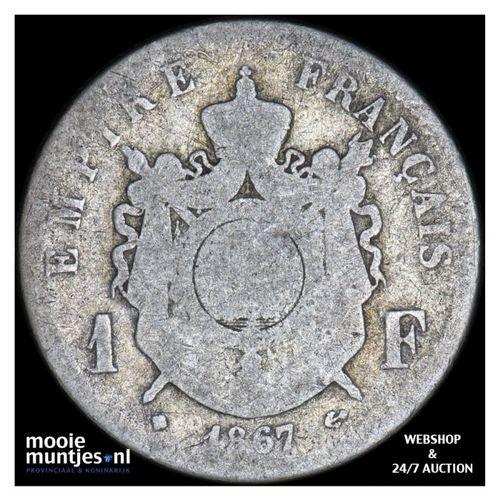 franc - France 1867 BB (Strasbourg) (KM 806.2) (kant A)
