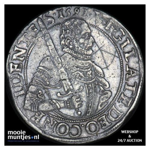 Zeeland - Gehelmde rijksdaalder of Prinsendaalder - 1591 (kant A)