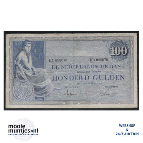 100 gulden - 1921 (Mev. 116-3a / AV 80) (kant A)
