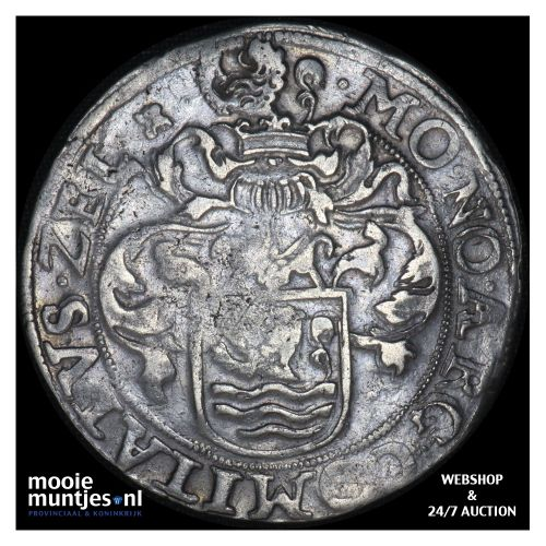 Zeeland - Gehelmde rijksdaalder of Prinsendaalder - 1591 (kant B)
