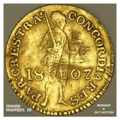 Gouden dukaat - Lodewijk Napoleon - 1807 b (kant A)