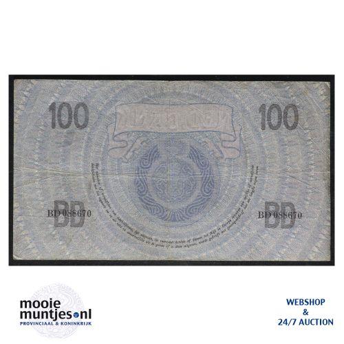 100 gulden - 1921 (Mev. 116-3a / AV 80) (kant B)