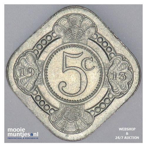 5 cent - Wilhelmina - 1913 (kant A)