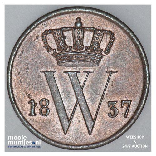 1 cent - Willem I - 1837 (kant A)