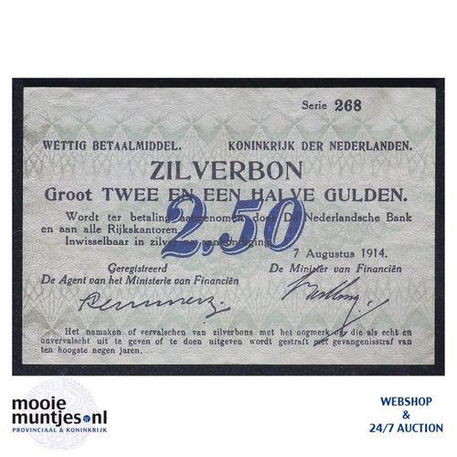2½ gulden - 1914 (Mev. 10-1c / AV 8) (kant A)