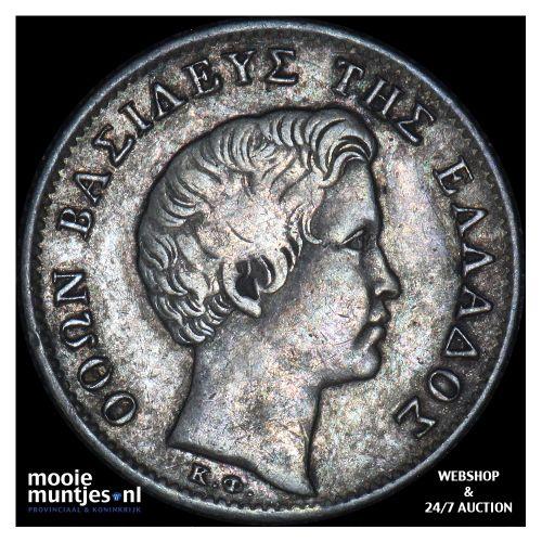 1/2 drachma - Greece 1834 (KM 19) (kant B)