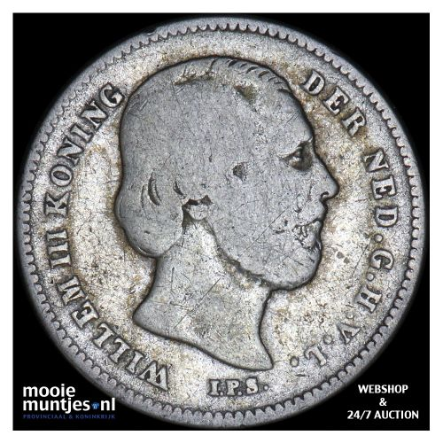 25 cent - Willem III - 1850 (kant B)