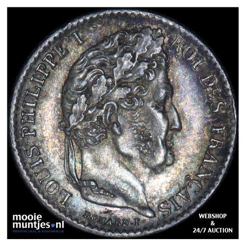 1/4 franc - France 1842 A (Paris) (KM 740.1) (kant B)