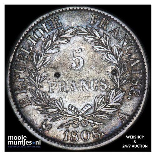 5 francs - France 1808 A (Paris) (KM 686.1) (kant A)