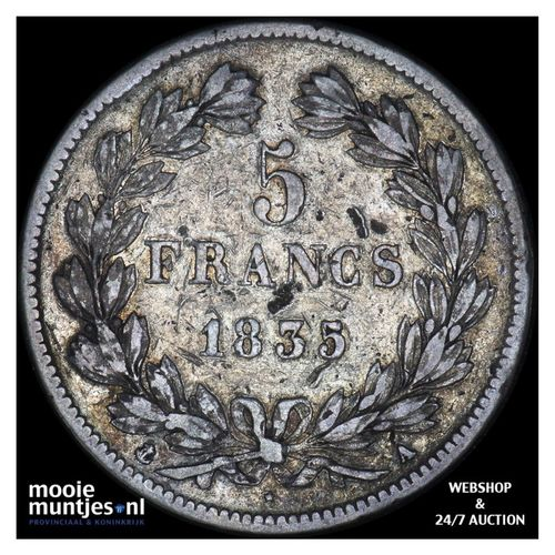 5 francs - France 1835 A (Paris) (KM 749.1) (kant A)