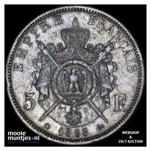 5 francs - France 1868 A (Paris) (KM 799.1) (kant A)