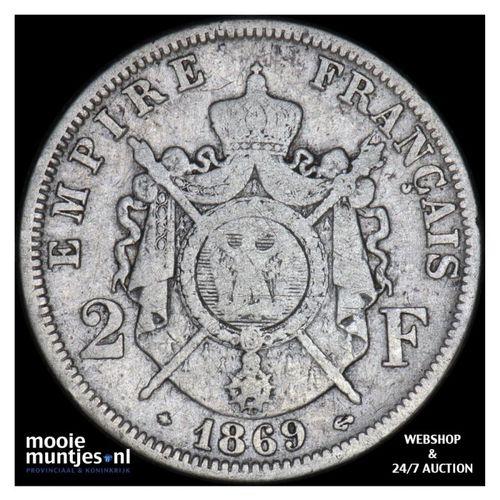 2 francs - France 1869 A (Paris) (KM 807.1) (kant A)