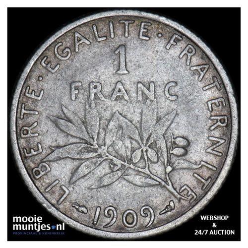 franc - France 1909 (KM 844.1) (kant A)
