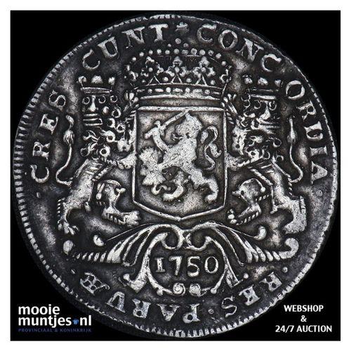 Zeeland - Zilveren rijder of dukaton - 1750 (kant A)