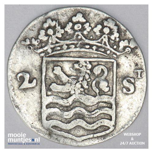 Zeeland - Dubbele wapenstuiver - 1724 (kant B)