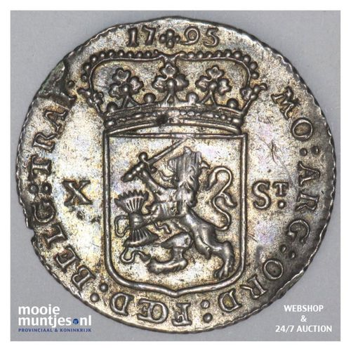 Utrecht - X stuiver - 1795 (kant A)